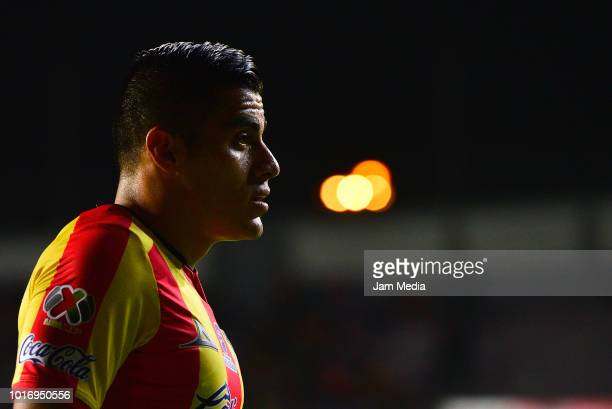 Aldo Rocha of Morelia looks on during the fourth round match between Morelia and Necaxa as part of the Torneo Apertura 2018 Liga MX at Jose Maria...