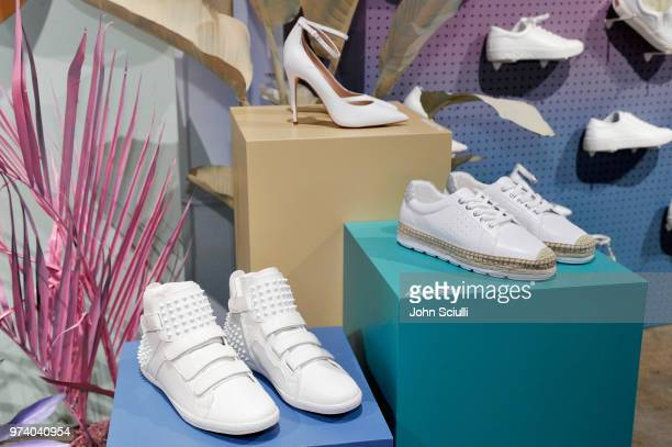 Aldo shoes on display at the Aldo LA Nights 2018 at The Rose Room on June 13 2018 in Venice California