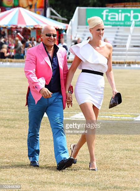 Aldo Zilli and Nikki Zilli attend the Duke Of Essex Polo Cup at Gaynes Park on July 17 2010 in Epping England