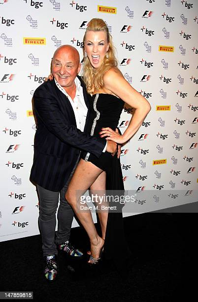 Aldo Zilli and Nikki Zilli attend The F1 Party at Battersea Evolution on July 4 2012 in London England