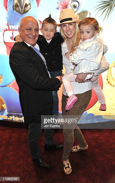 Aldo Zilli and Nikki Zilli attend the gala screening of 'Rio' at Empire Leicester Square on March 27 2011 in London England