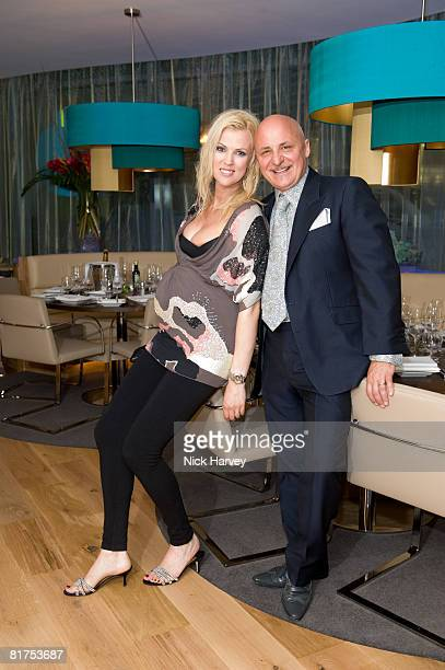 Aldo Zilli and Nikki Zilli attend the official opening of myhotel Brighton on June 27 2008 in Brighton England