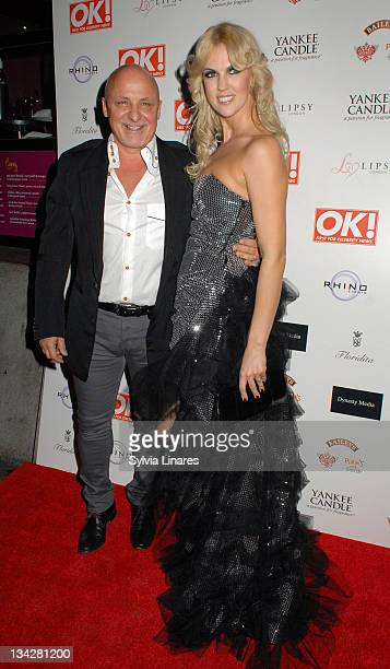Aldo Zilli and Nikki Zilli attend the OK Magazine Christmas Party held at Floridita Restaurant on November 29 2011 in London England