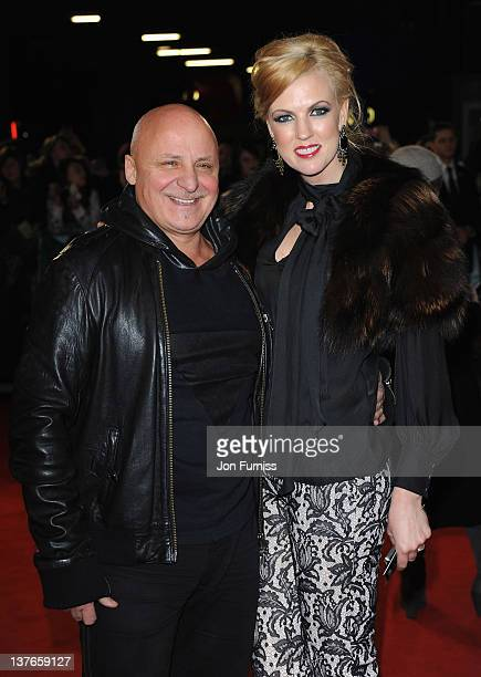 Aldo Zilli and Nikki Zilli attend The Woman in Black World film premiere at the Royal Festival Hall on January 24 2012 in London England