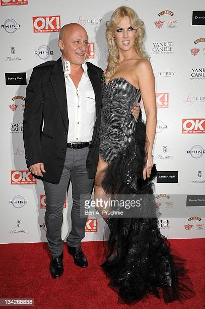 Aldo Zilli and Nikki Zilli attends OK Magazines Christmas party at Floridita on November 29 2011 in London England
