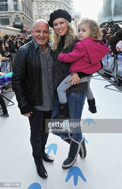 Aldo Zilli and Nikki Zilli attends the European Premiere of Happy Feet Two at Empire Leicester Square on November 20 2011 in London England