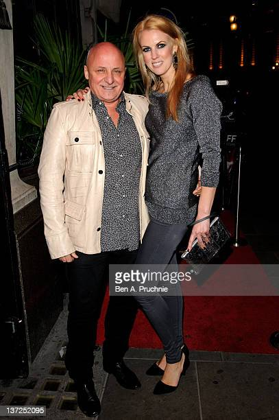 Aldo Zilli and Nikki Zilli attends the launch of Harry Derbidges new exclusive unisex jewellery range at Jewel on January 17 2012 in London England