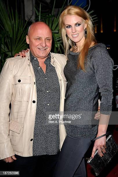 Aldo Zilli and Nikki Zilli attends the launch of Harry Derbidges new exclusive unisex jewellery range at Jewel on January 17 2012 in London England