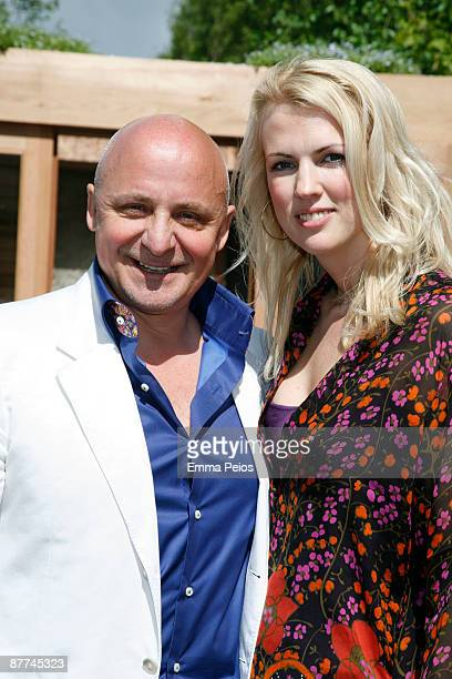Aldo Zilli and Nikki Zilli attends the VIP day of the Chelsea Flower Show at Royal Hospital Chelsea on May 18 2009 in London England