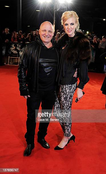 Aldo Zilli and wife Nikki attend the World Premiere of 'The Woman In Black' at the Royal Festival Hall on January 24 2012 in London England