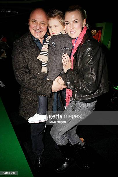 Aldo Zilli Rocco Zilli and Nikki Zilli attend the UK premiere of 'Ben 10 Alien Force' held at Old Billingsgate Market on February 15 2009 in London...