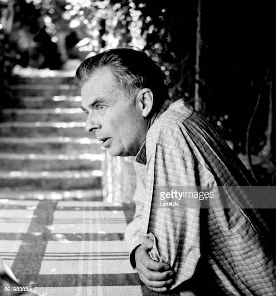 Aldous Huxley in the Festival of VaisonlaRomaine in July 1954