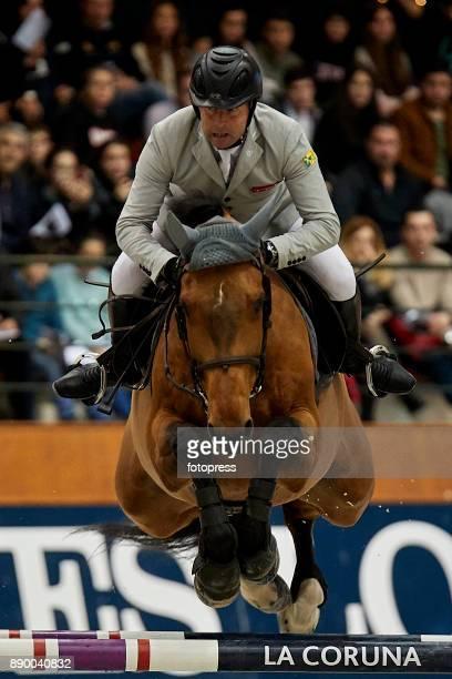 Aldrick Cheronnet attends during CSI Casas Novas Horse Jumping Competition on December 10 2017 in A Coruna Spain