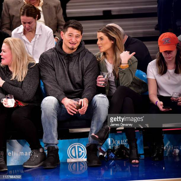 Aldrick Rosas and guest attend Orlando Magic v New York Knicks game at Madison Square Garden on February 26 2019 in New York City