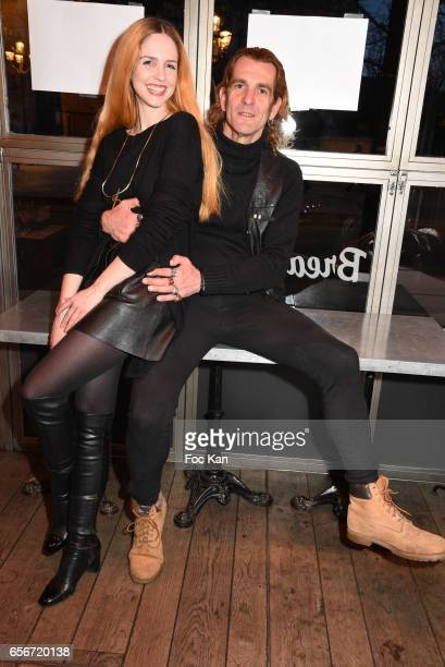 Ale de Basseville and Egla Harxhi attend 'Apero Mecs A Legumes' Party Hosted by Grand Seigneur Magazine at the Bistrot Marguerite on March 22 2017 in...
