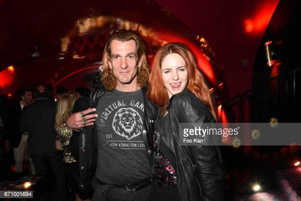 Ale de Basseville and Egla Harxhi attend 'Lost Control' Stefanie Renoma Photo Exhibition After Party at Castel Club on April 20 2017 in Paris France