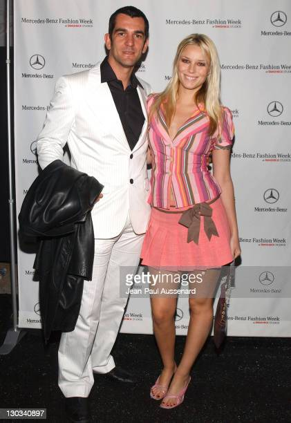 Ale De Basseville and Kiera Chaplin during MercedesBenz Fall 2005 Fashion Week at Smashbox Studios Day 1 Arrivals at Smashbox Studios in Culver City...