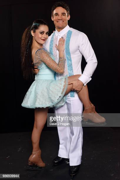 Ale Izquierdo and Max Evans attends the press launch photocall for the Dancing on Ice Live Tour at Wembley Arena on March 22 2018 in London England...