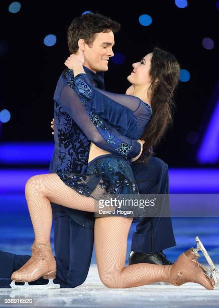 Ale Izquierdo and Max Evans during the Dancing on Ice Live Tour Dress Rehearsal at Wembley Arena on March 22 2018 in London EnglandThe tour kicks off...