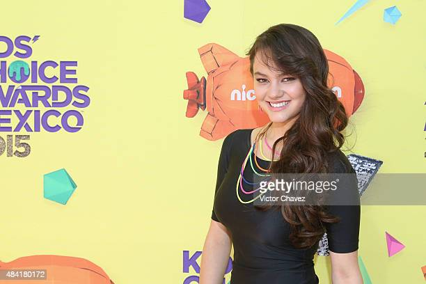 Ale Muller arrives at Nickelodeon Kids' Choice Awards Mexico 2015 Red Carpet at Auditorio Nacional on August 15 2015 in Mexico City Mexico