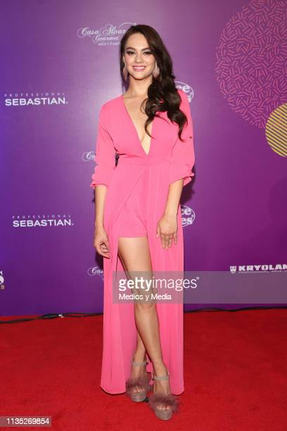 Ale Muller poses on the red carpet during the 'Eres' Awards 2019 at Campo Marte on March 11 2019 in Mexico City Mexico