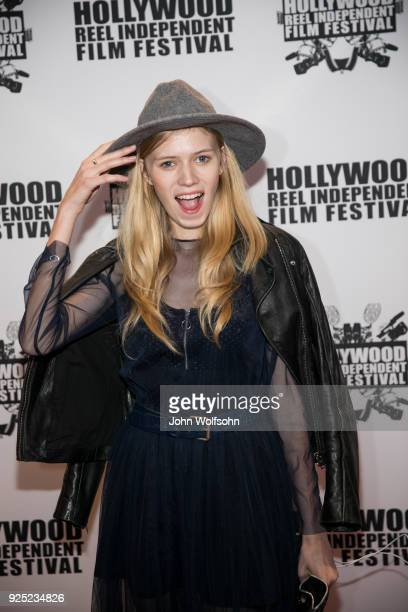 Ale Stef arrives at Buckout Road Premiere at the Hollywood Reel Independent Film Festival at Regal Cinemas LA Live on February 27 2018 in Los Angeles...