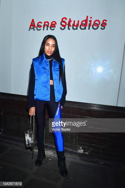 Aleali May attends exhibition hosted by Acne Studios featuring Cindy Crawford Sam Abell and Amarrillo on at Galerie Edouard Escougnou on September 28...
