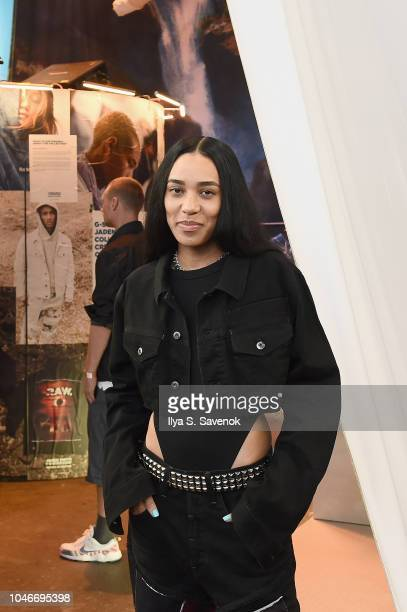 Aleali May attends Jaden Smith GStar RAW Forces of Nature collection reveal at Hypefest on October 6 2018 in Brooklyn New York