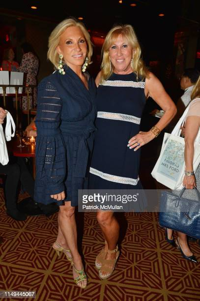 Alease Fisher and Laurette Kittle attend Deborah Goodrich Royce's Finding Mrs Ford Book Launch at Doubles on June 11 2019 in New York City
