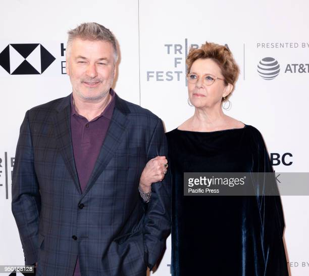 Alec Baldwin and Annette Bening attend The Seagull premiere during the 2018 Tribeca Film Festival at BMCC Tribeca PAC Manhattan