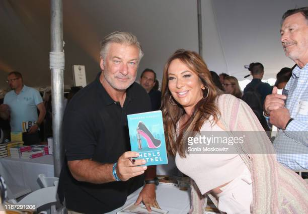 Alec Baldwin and Barbara Kavovit at the East Hampton Library's 15th Annual Authors Night Benefit on August 10 2019 in Amagansett New York