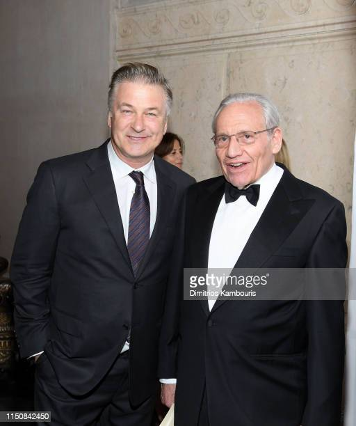 Alec Baldwin and Bob Woodward attend the 2019 PEN America Literary Gala at American Museum of Natural History on May 21 2019 in New York City