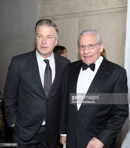 Alec Baldwin and Bob Woodward attend the 2019 PEN America Literary Gala at American Museum of Natural History on May 21, 2019 in New York City.