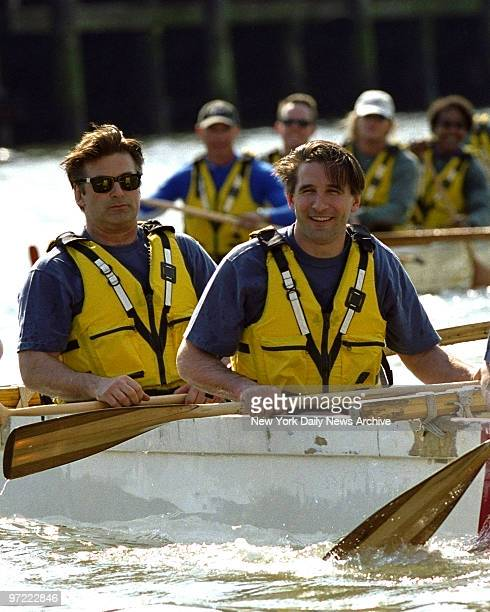 Alec Baldwin and brother Billy Baldwin at the Eddie Bauer Riverkeeper Kayak Challenge held at the Chelsea Piers