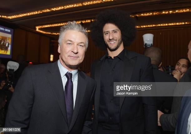 Alec Baldwin and Colin Kaepernick attend Robert F Kennedy Human Rights Hosts Annual Ripple Of Hope Awards Dinner on December 13 2017 in New York City