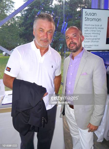 Alec Baldwin and Damien A Roman attend the 2018 Guild Hall Summer Gala on August 10 2018 in East Hampton New York