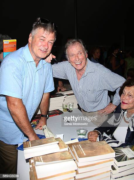Alec Baldwin and Dick Cavett attend the East Hampton Library's 12th Annual Authors Night Benefit on August 13 2016 in East Hampton New York