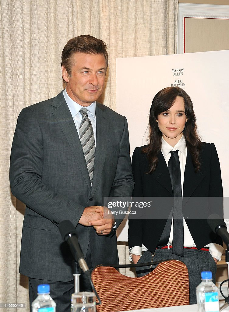 Alec Baldwin and Ellen Page attend the 'To Rome With Love' Press Conference on June 19, 2012 in New York City.