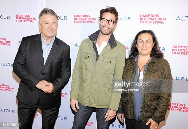 Alec Baldwin and guests attend the Opening Night Party of the Hamptons International Film Festival 2016 at The Leo on October 6 2016 in East Hampton...