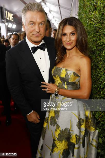 Alec Baldwin and Hilaria Baldwin arrive at the 69TH PRIMETIME EMMY AWARDS LIVE from the Microsoft Theater in Los Angeles Sunday Sept 17 on the CBS...