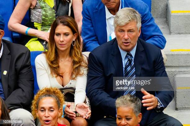 Alec Baldwin and Hilaria Baldwin at 2018 US Open on September 6 2018 in New York City