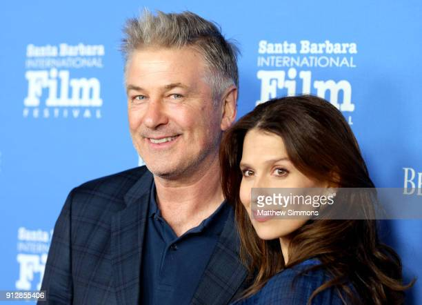 Alec Baldwin and Hilaria Baldwin at the Opening Night Film 'The Public' Presented by Belvedere Vodka during the 33rd Santa Barbara International Film...