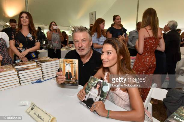 Alec Baldwin and Hilaria Baldwin attend Authors Night At East Hampton Library on August 11, 2018 in East Hampton, New York.