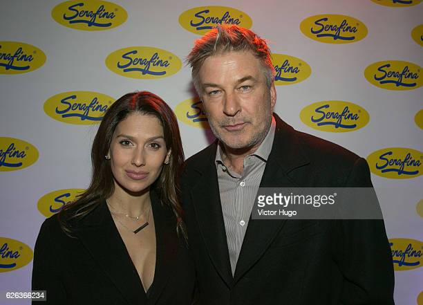 Alec Baldwin and Hilaria Baldwin attend Serafina Ludlow Opening Party Pasta Ribbon Cutting at Serafina Ludlow on November 28 2016 in New York City