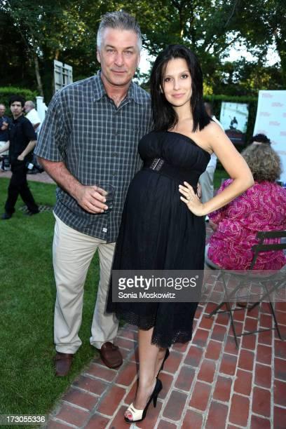 "Alec Baldwin and Hilaria Baldwin attend the 2013 Hamptons International Film Festival SummerDocs Series screening of ""Gasland Part II"" at Guild Hall..."