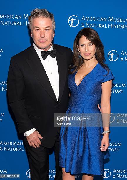 Alec Baldwin and Hilaria Baldwin attend the 2016 American Museum Of Natural History Museum Gala at American Museum of Natural History on November 17...