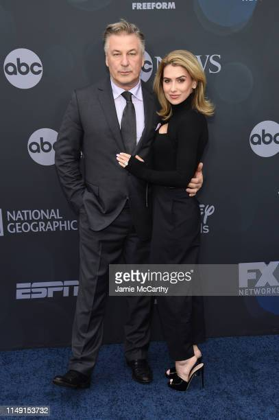 Alec Baldwin and Hilaria Baldwin attend the ABC Walt Disney Television Upfront on May 14 2019 in New York City