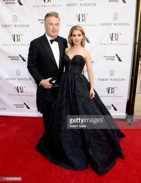 Alec Baldwin and Hilaria Baldwin attend the American Ballet Theatre 2019 Spring Gala at The Metropolitan Opera House on May 20 2019 in New York City