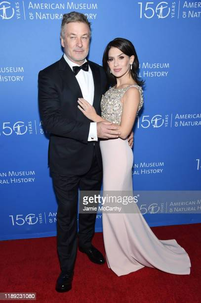 Alec Baldwin and Hilaria Baldwin attend the American Museum Of Natural History 2019 Gala at the American Museum of Natural History on November 21...