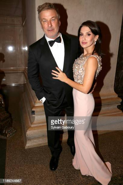 Alec Baldwin and Hilaria Baldwin attend The American Museum of Natural History's 2019 Museum Gala at American Museum of Natural History on November...